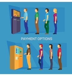 Payment options banking finance money flat vector
