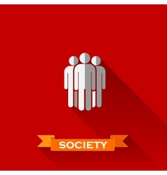 people group in flat design style with long vector image
