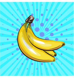 pop art banana halftone vector image