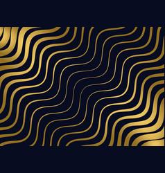premium golden wavy pattern design vector image