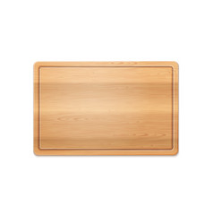 Rectangle wooden cutting vector
