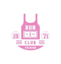 Run Club Pink Label Design vector