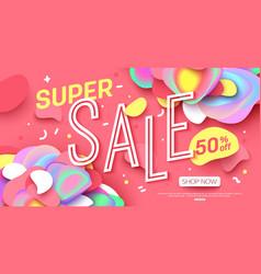 sale banner template design super for online vector image