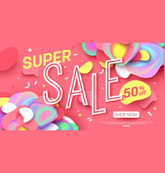 sale banner template design super sale for online vector image