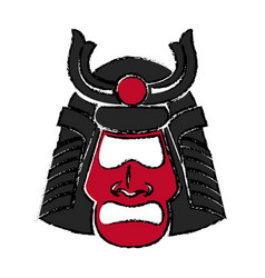 samurai face mask japanese warrior image vector image