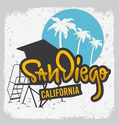 San diego california surfing surf design h vector