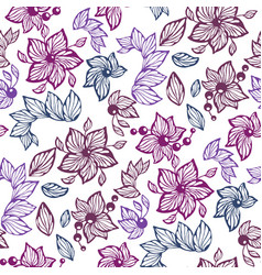 seamless graphic pattern with leaves beads and vector image