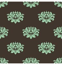 Seamless stylized peony pattern vector