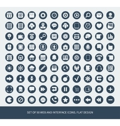 set 90 web and mobile icons vector image