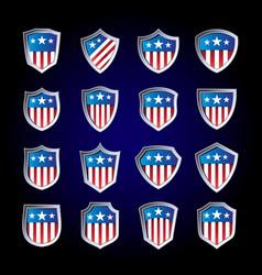 Set american logo and shield vector