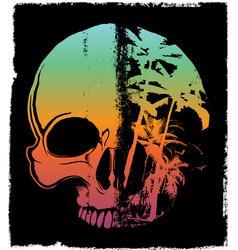 Skull summer t shirt graphic design vector