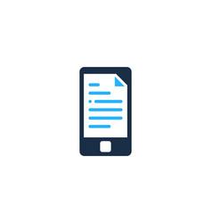 smartphone document logo icon design vector image
