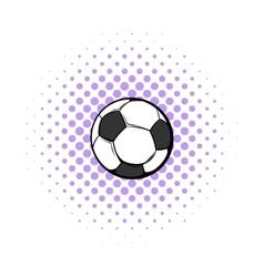 Soccer ball icon comics style vector
