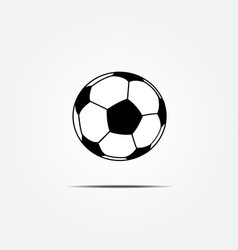 Soccer ball icon vector image