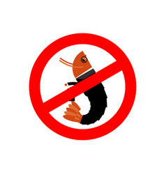 Stop office plankton prohibited shrimp in suit vector