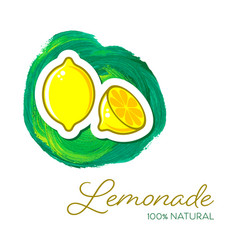 summer lemonade poster with two lemon icons vector image
