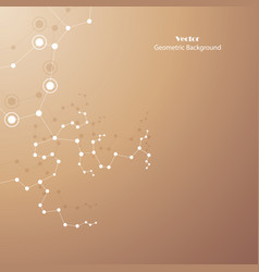 technical abstract background with connecting dots vector image
