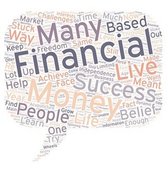 The Biggest Obstacles To Financial Success text vector image