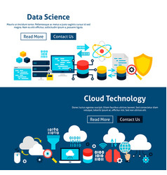 website data science banners vector image