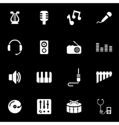 white music icon set vector image