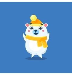 Winter Dressed Polar Bear vector