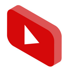 Youtube icon isometric style vector