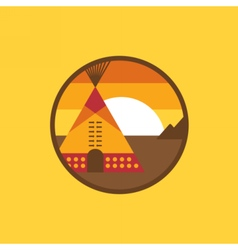American indian tipi icon vector image