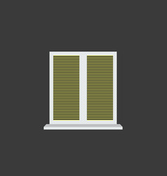closed window blinds vector image