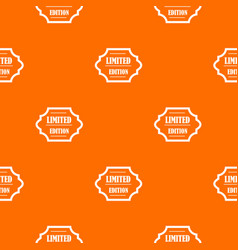 limited edition pattern seamless vector image vector image