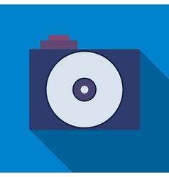Professional photocamera symbol vector image