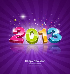2013 Message colorful background vector image vector image