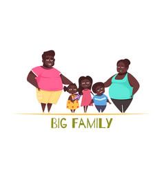 big family vector image vector image
