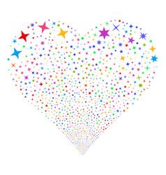confetti stars fireworks heart vector image vector image