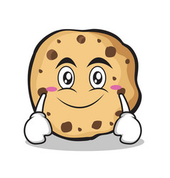 smile face sweet cookies character cartoon vector image vector image