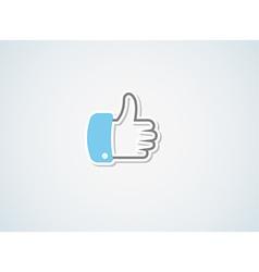 thumb vector image