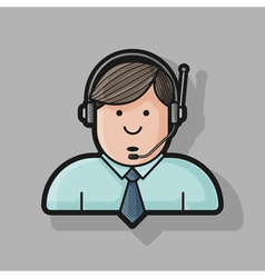 Administrator icon in a shirt and tie in the vector image vector image
