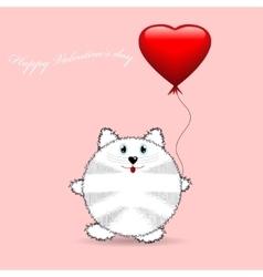 Cute cartoon cat Birthday Card vector image vector image