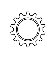 gear piece machinery vector image vector image