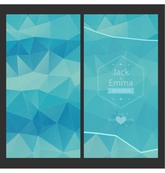 Wedding invitation in a modern style with vector image