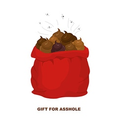 Christmas gifts for bad people santa claus with vector