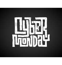Cyber Monday Chalk Lettering vector image