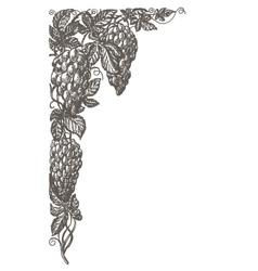 Grapevine logo design template frame or vector