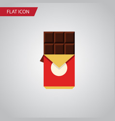 Isolated shaped box flat icon chocolate bar vector
