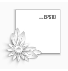 Paper flower vector image