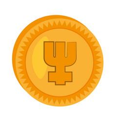 primecoin money golden icon vector image