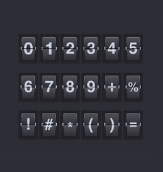 set of numbers and symbols on a mechanical vector image vector image
