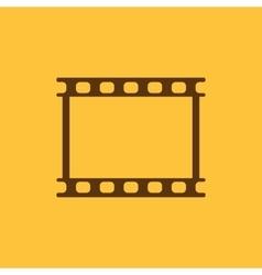 The film icon Film symbol Flat vector image vector image