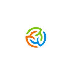 three circle colorful beauty logo vector image vector image