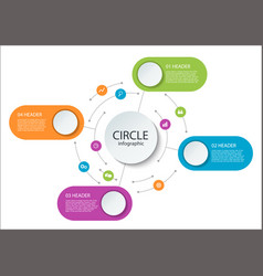 abstract round infographics color circle diagram vector image