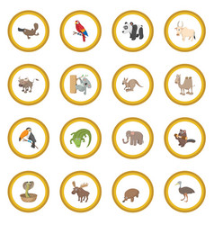 animal icon circle vector image vector image